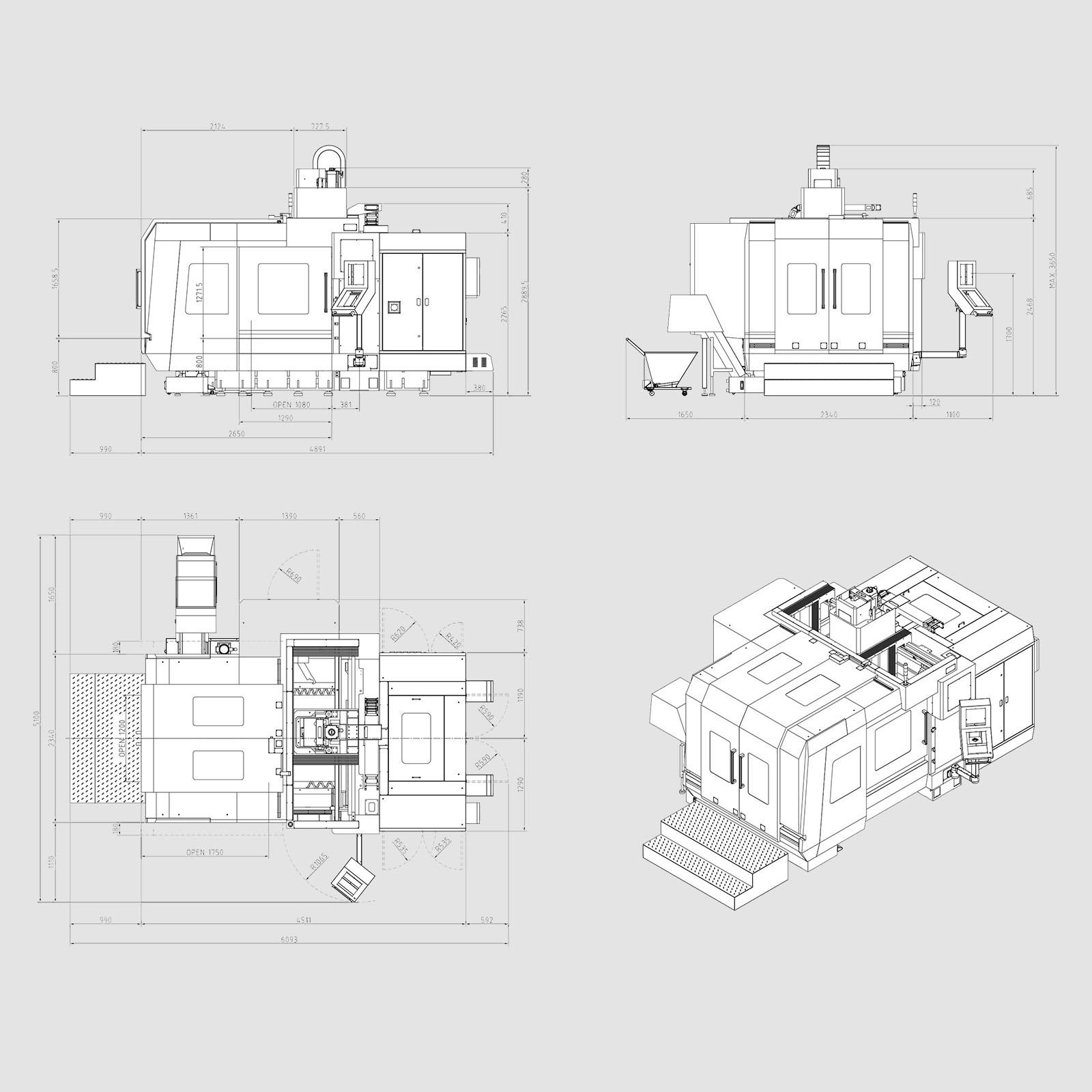 Dimensiones V1613HS