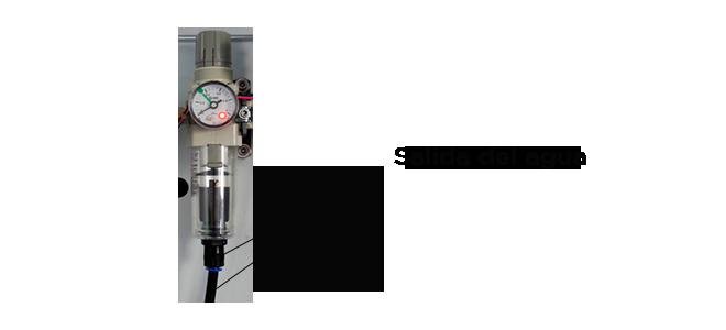 Deshidratador en un centro de mecanizado Priminer